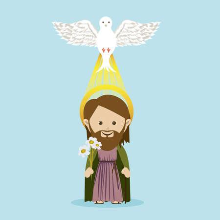 holy spirit: holy design over blue background vector illustration Illustration