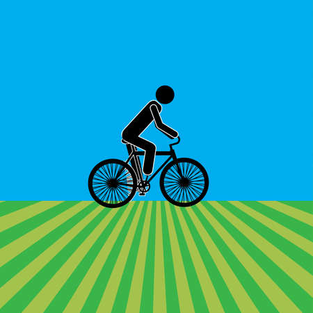 rout: cycling design over blue background vector illustration Illustration