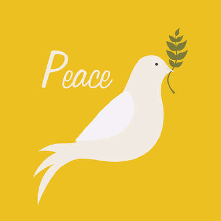 peace design over  yellow background vector illustration  Vector
