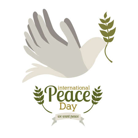 peace design over white  background vector illustration Vector