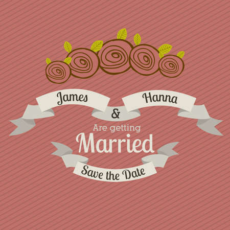 getting married: married design over pink background vector illustration  Illustration