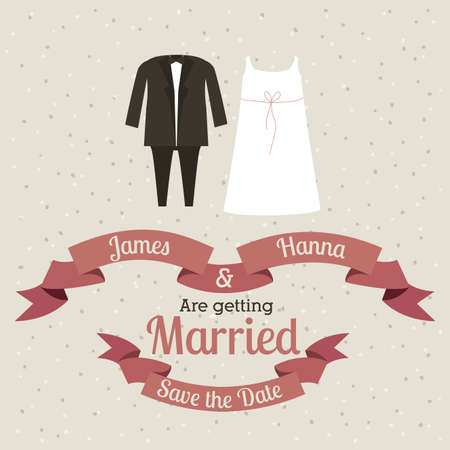 married design over beige  background vector illustration Vector