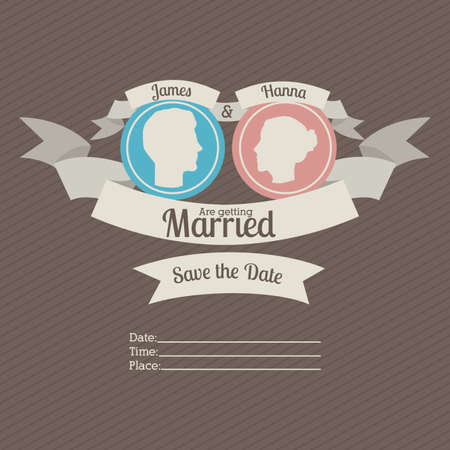 getting married: married design over  gray background vector illustration  Illustration