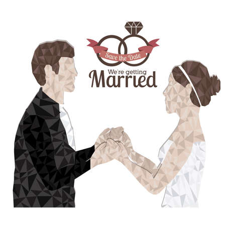 getting married: married design over white background vector illustration