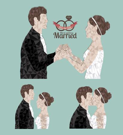 getting married: married design over  blue  background vector illustration Illustration