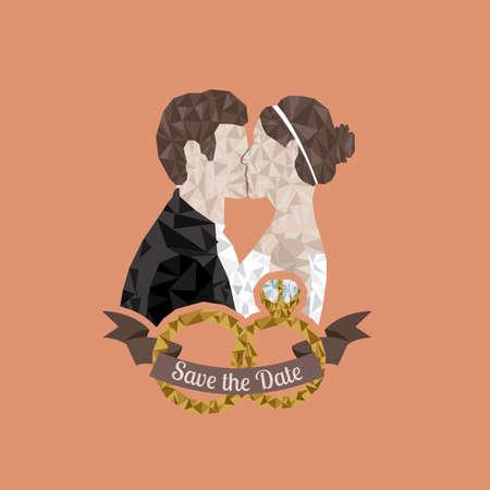 getting married: married design over pink  background vector illustration