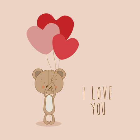 bear design over pink   background vector illustration