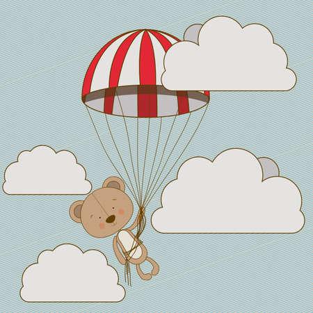 bear design over  sky  background vector illustration   Illustration