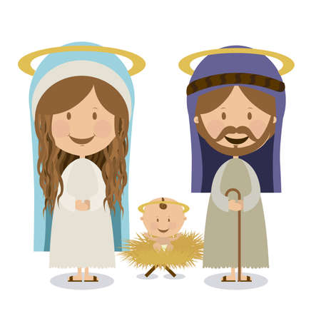 baby jesus: manger design over white background vector illustration