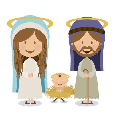 saint joseph: manger design over white background vector illustration