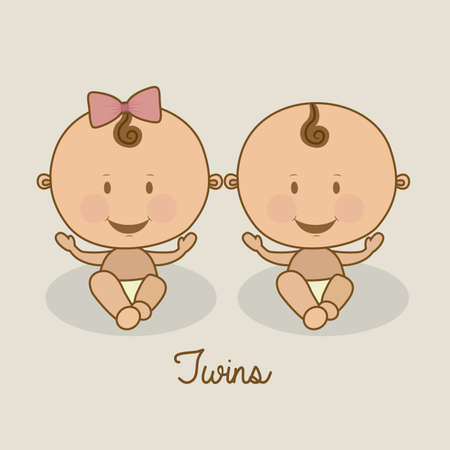 baby shower design over beige background vector illustration   Vector