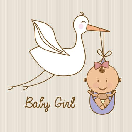 Conception de douche de bébé plus linéaire illustration vectorielle de fond Banque d'images - 23747417