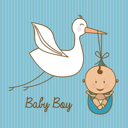 baby shower design over blue  background vector illustration Stock Vector - 23747481