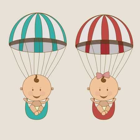 baby arrival design over beige  background vector illustration   Vector