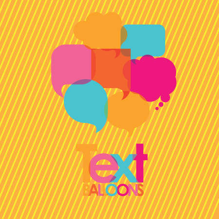 text balloons over yellow background  vector illustration Vector
