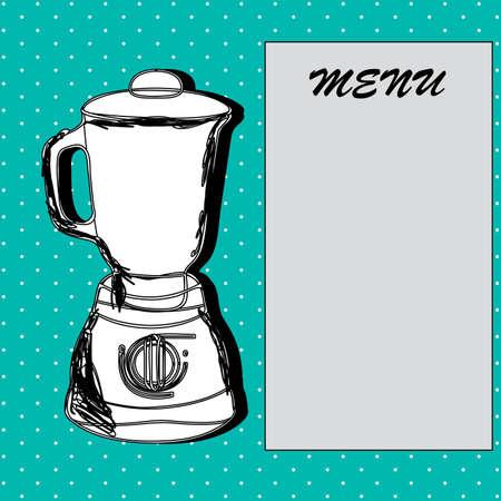 blender design over dotted background vector illustration Vector