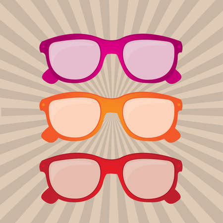colorful sunglasses over grunge background vector illustration Stock Vector - 23747983
