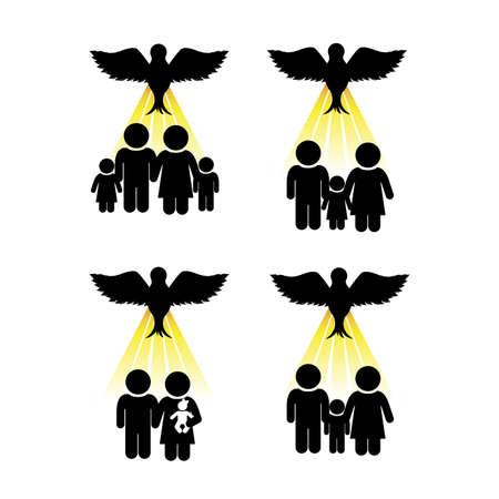 holy family: holy design over white background vector illustration