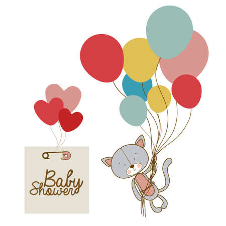 baby arrival design over white background vector illustration   Vector