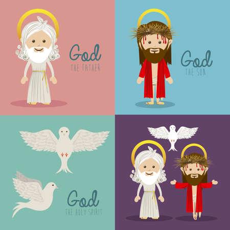 diseño de santa sobre fondo de colores ilustración vectorial