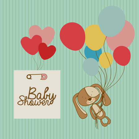 baby arrival design over blue  background vector illustration   Vector