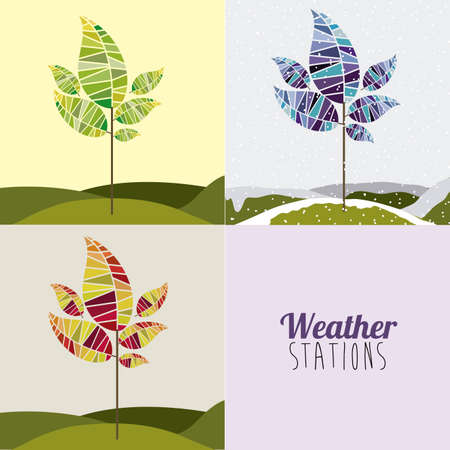 weather design over white background vector illustration  Vector
