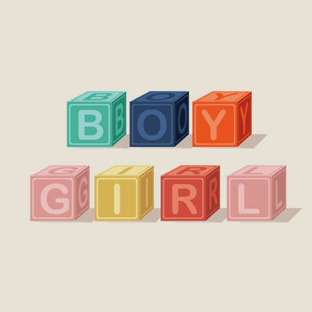 baby toys over beige background vector illustration  Vector