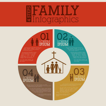 infographics design over beige  background vector illustration Vector