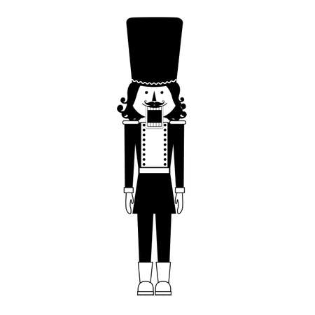nutcracker: baby toys over white background vector illustration