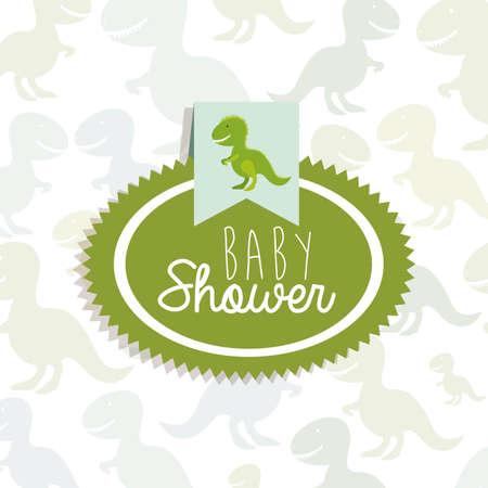 baby toys over pattern background vector illustration Vector