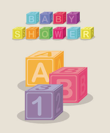 baby shower design over gray  background vector illustration    Vector