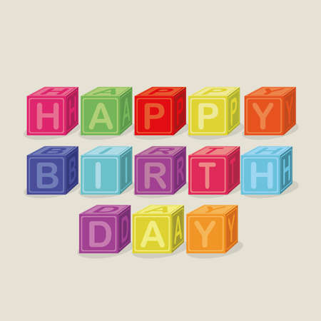 happy birthday design over beige  background vector illustration    Vector