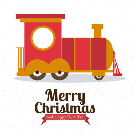 christmas design over white background vector illustration Vector
