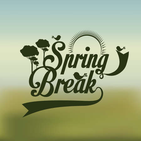 spring design over green background vector illustration