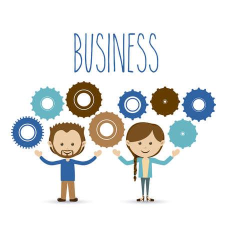 workteam: business design over white background vector illustration