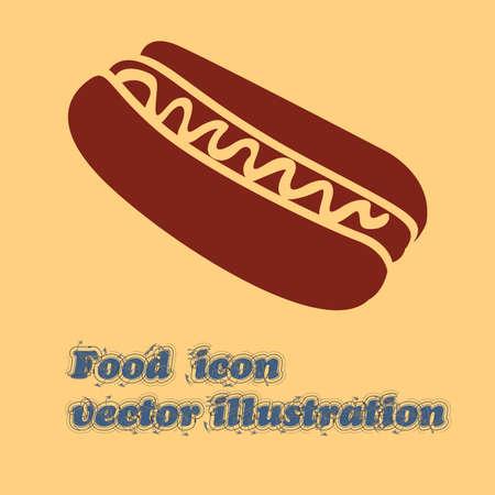 hot dog design over cream background vector illustration Vector