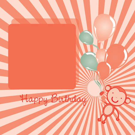 fayer: happy birthday over grunge background vector illustration