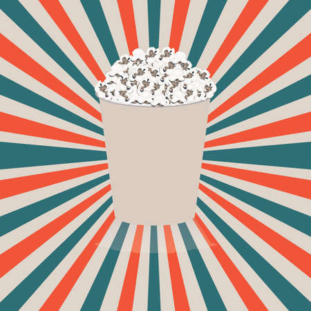 pop  corn design over grunge background vector illustration  Vector