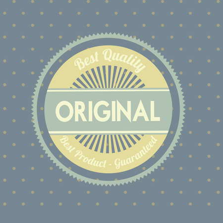 original seal over gray  background vector illustration  Vector