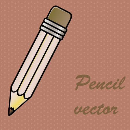 pencil design over dotted background vector illustration Vector
