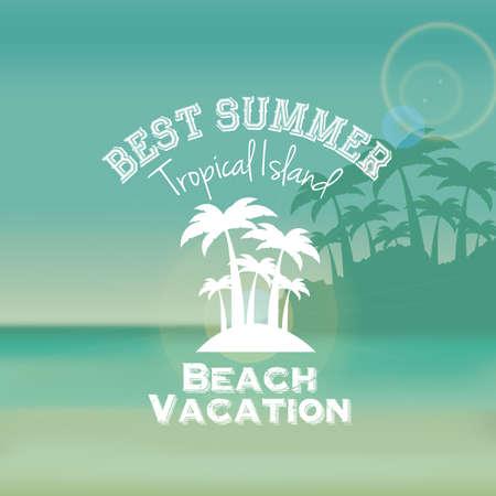 subtropical: summer design over sky background vector illustration     Illustration