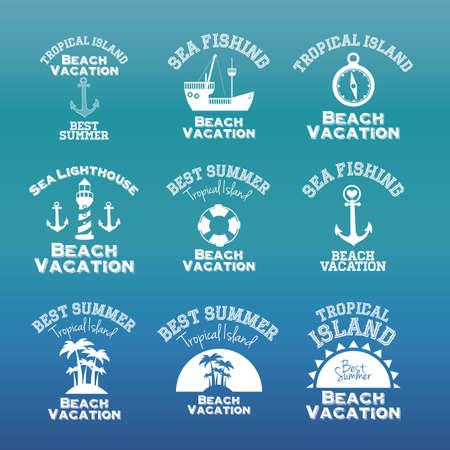 subtropical: summer design over blue background vector illustration