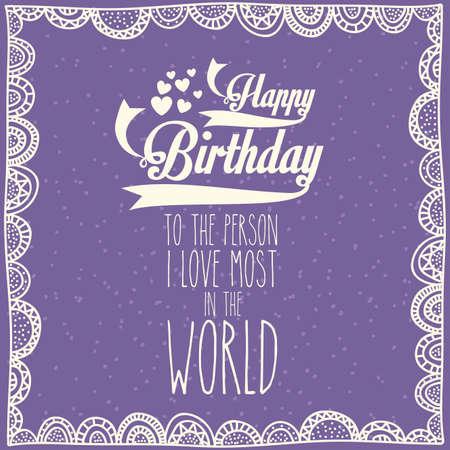 backgrund: birthday  design over purple  backgrund vector illustration  Illustration
