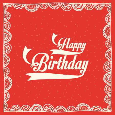 backgrund: birthday  design over red  backgrund vector illustration  Illustration