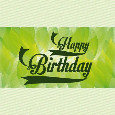 backgrund: birthday  design over green backgrund vector illustration
