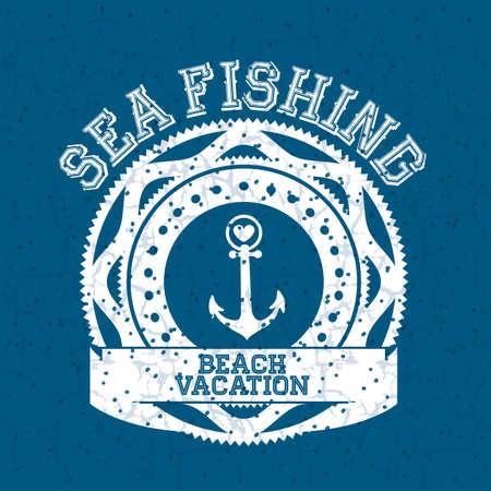 oceans: summer design over blue  background vector illustration