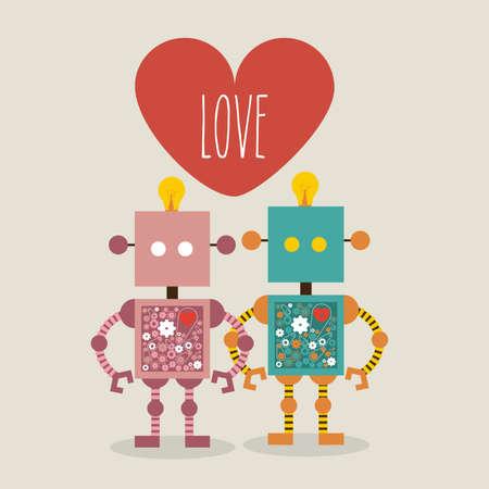 heard: love design over gray  background vector illustration  Illustration