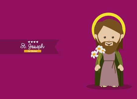 saints: holy design over purple background vector illustration  Illustration