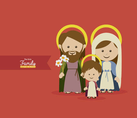 holy design over red  background vector illustration    Vector