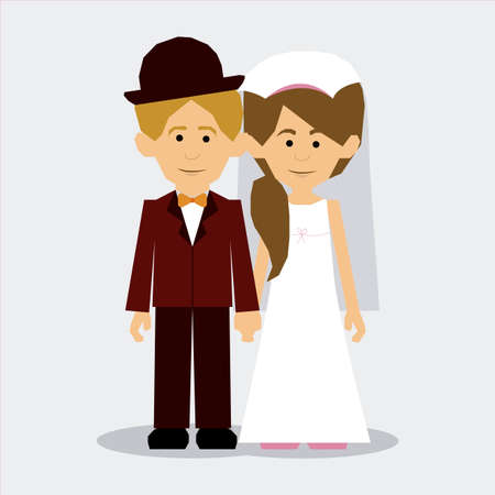 getting married: married design over  gray background vector illustration